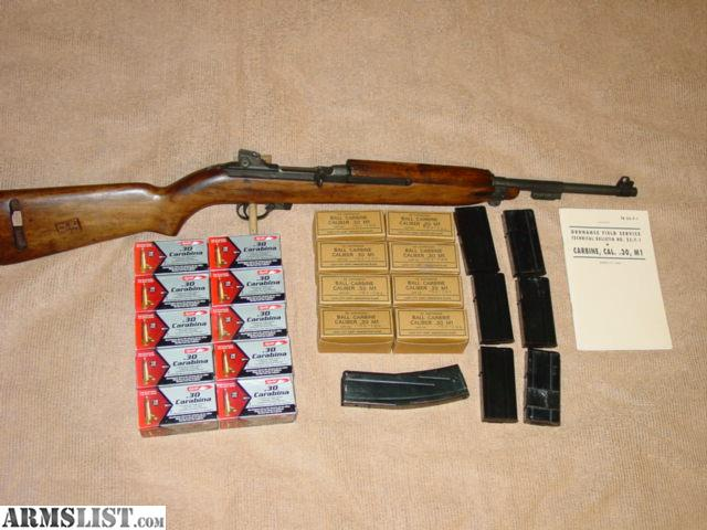 ARMSLIST - For Sale: M1 Carbine, AND 900 rounds of  30