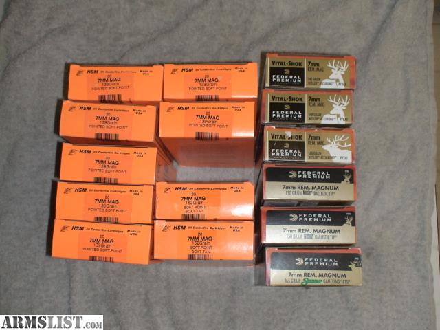 ARMSLIST - For Sale: FS: 7MM Rem Mag Ammo