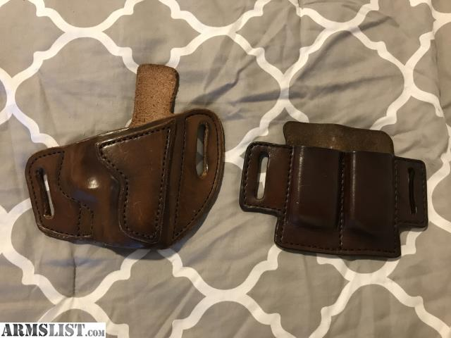 ARMSLIST - For Sale: Glock 43 Leather OWB Holster & Double