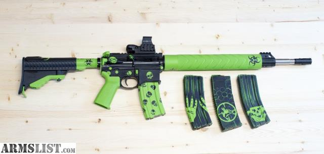 Armslist For Sale Zombie Green Black Custom Cerakote