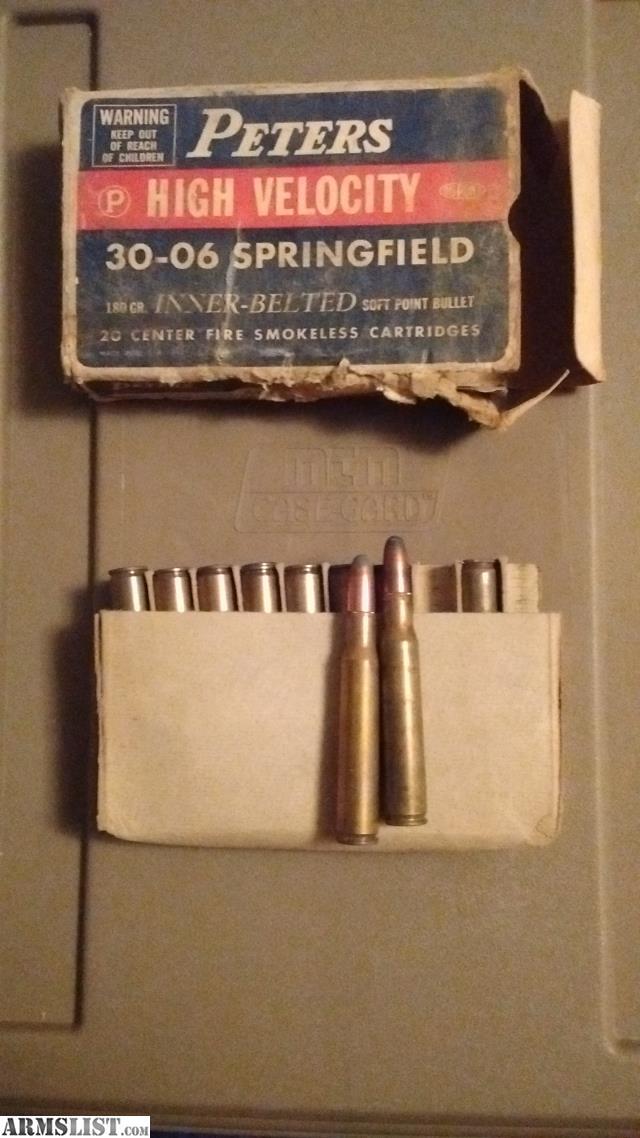 ARMSLIST - For Sale: Vintage 30-06 box/ ammo