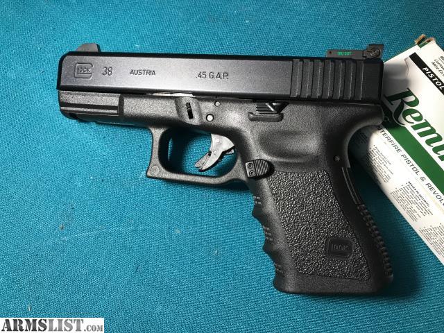 ARMSLIST - For Sale/Trade: Glock 38 .45 GAP
