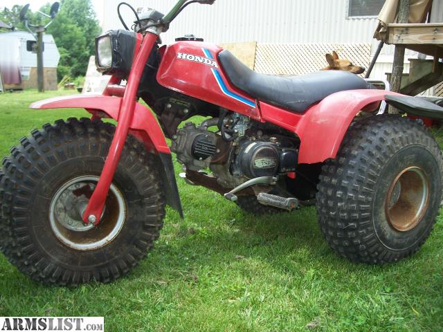 Honda 110 3 Wheeler. No Tire Rot Or Leaks, Been Tuned Up And Maintained. 5  Speed, Does Not Smoke And Starts On First Or Second Pull.