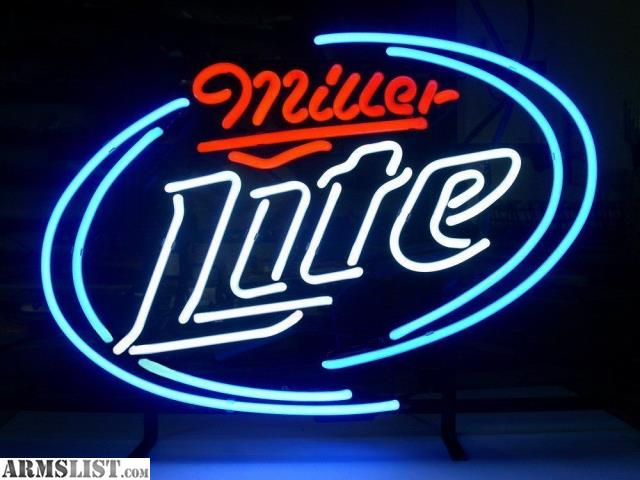 neon miller lite signs beer bar sign light pub amazon garage glass room wall game cave coors recreation windows brand