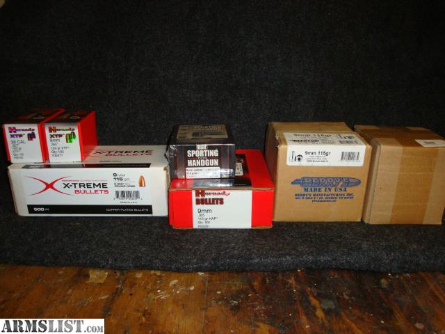 ARMSLIST - For Sale: Pistol Bullets