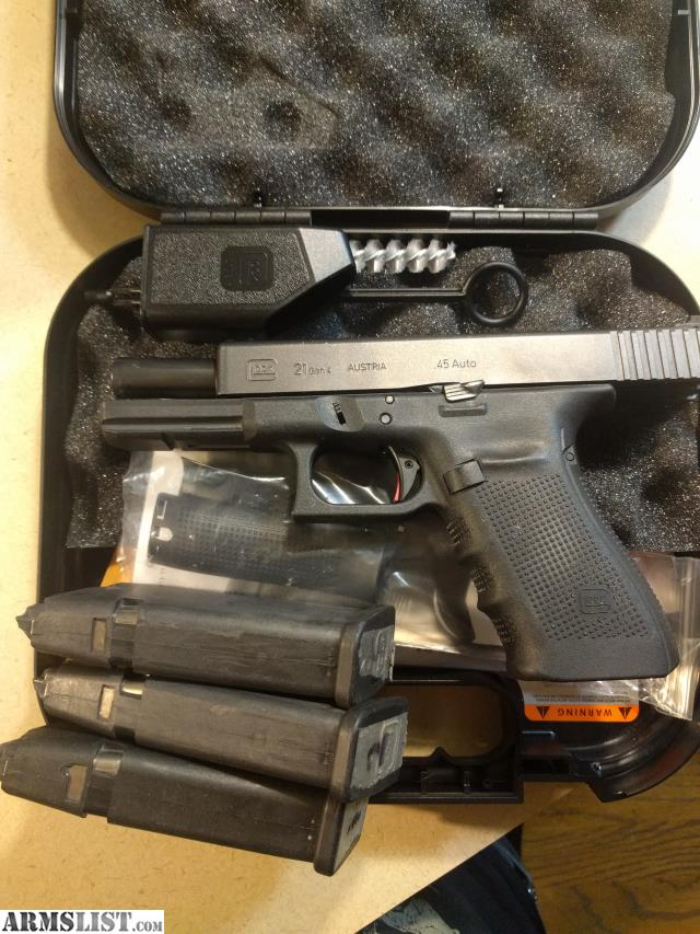 ARMSLIST - For Sale: Glock 21 Gen 4 w/Zev parts