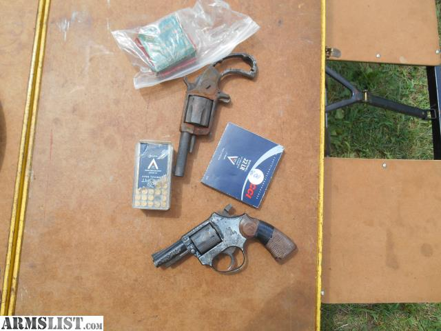 ARMSLIST - For Sale: 22 pistol and 32 cal spur gun