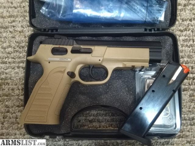 ARMSLIST - For Sale: EAA Witness 9mm Desert Tan (Like CZ-75)