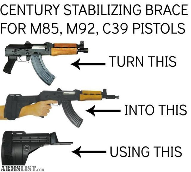 For Sale: ZASTAVIA PAP M92PV WITH ARM BRACE