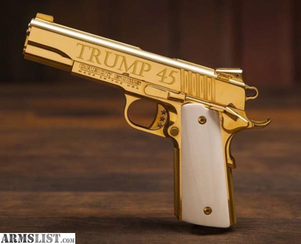 ARMSLIST - For Sale: Cabot Trump 45 Gold Plated 1911