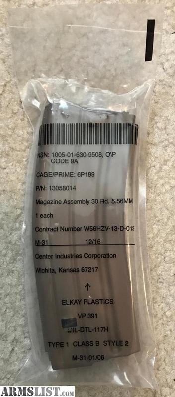ARMSLIST - For Sale: WTS: New M855A1 magazines