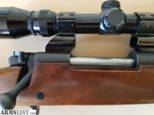 simmons 3x9 scope. winchester 670 with a simmons 3x9 scope bolt action bluing is ingreat condition stock shows some wear x