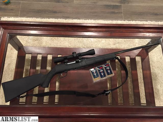 armslist for sale savage a17 semi auto 17hmr w scope and free ammo