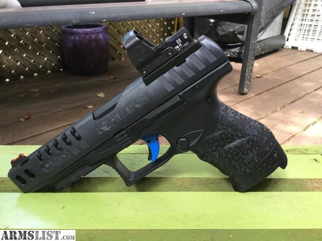 ARMSLIST - For Sale: Walther PPQ Q5 Match, plus Auc8 Leupold