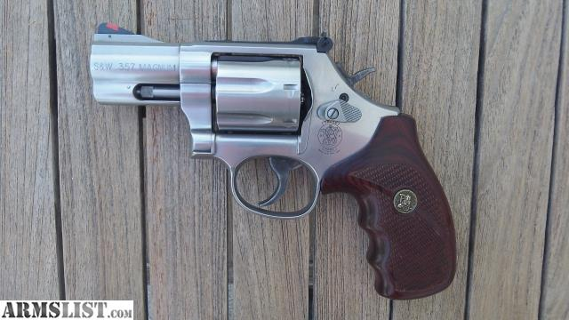 686 6 25 7 Round 357 Magnum 38 Special Stainless SS Upgraded Pachmayr Rosewood Grips Comes With Original Blue Box No Papers Key
