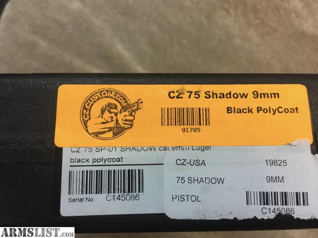 ARMSLIST - For Sale: CZ 75 SHADOW CUSTOM SHOP