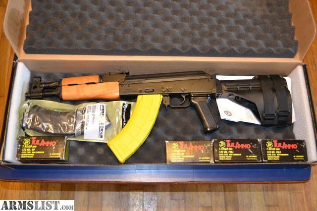 Armslist For Sale Draco Ak47 Pistol W Brace Banana Clip And Ammo