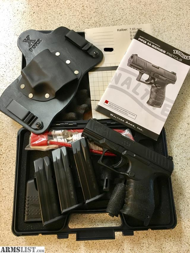 ARMSLIST - For Sale: Walther PPQ M2 9mm w/ 3 Mags & IWB Holster