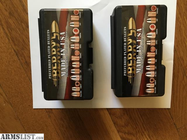 ARMSLIST - For Sale: Berry's 9mm 124 gr RN Plated bullets #500