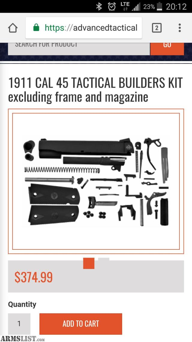 ARMSLIST - For Sale/Trade: Build your own 1911!!