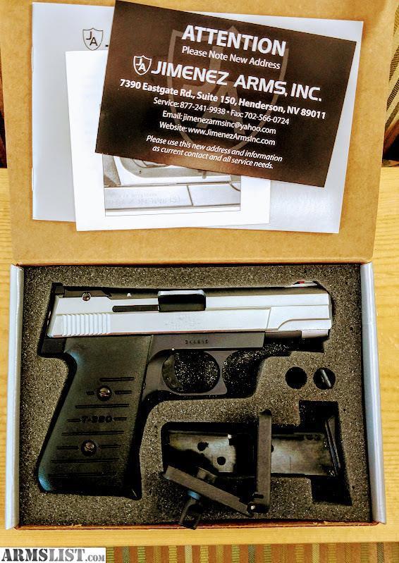ARMSLIST - For Sale: Brand New Tu-Tone Jimenez Arms T-380 Pistol w/2