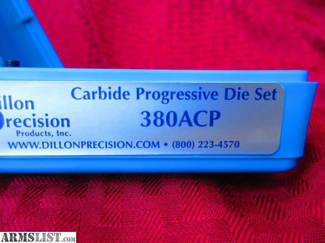 ARMSLIST - For Sale: Dillon Carbide  380 ACP Dies