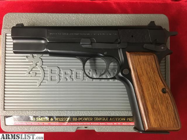 Armslist for sale browning hi power sin act 40 s w for Golden nugget pawn jewelry holiday fl