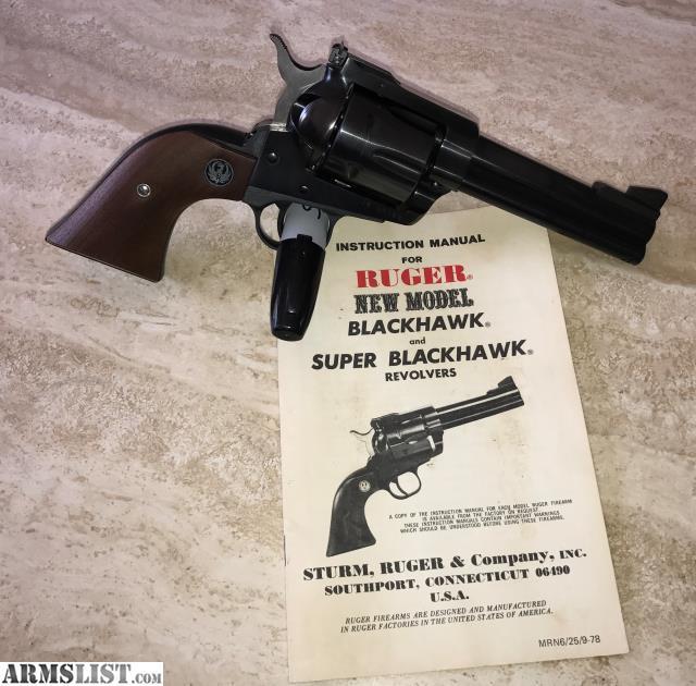 armslist for sale 1978 ruger new model blackhawk revolver 357 rh armslist com ruger new model blackhawk owners manual Ruger New Model Blackhawk Holsters