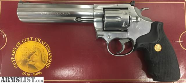 Armslist for sale colt king cobra stainless 6 w orig for Golden nugget pawn jewelry holiday fl