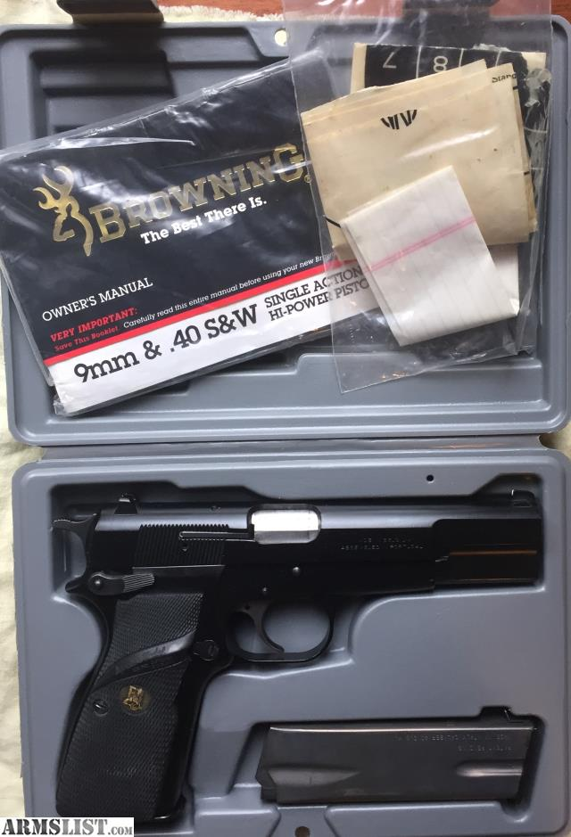 ARMSLIST - For Sale/Trade: Browning Hi power 40