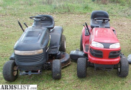 ARMSLIST - For Sale/Trade: Two Riding lawn mowers