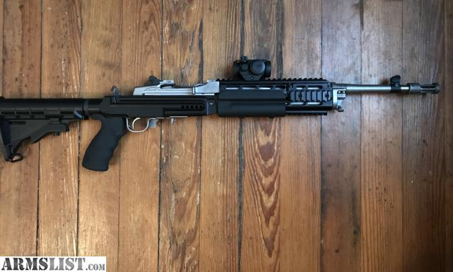 ARMSLIST - For Sale: Mini 14 Stainless Sage EBR Stock