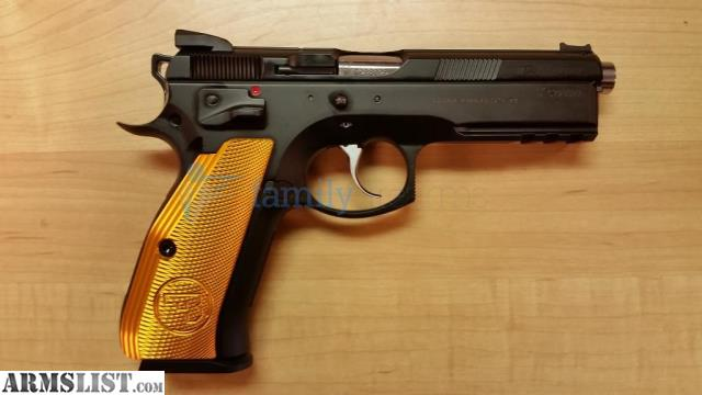 ARMSLIST - For Sale: CZ 75 SP-01 SHADOW ORANGE 10RD EXTENDED BARREL