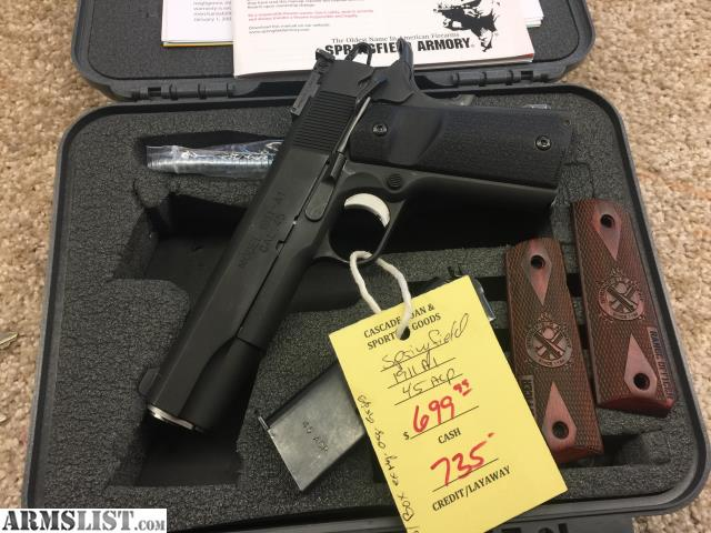 ARMSLIST - For Sale: SPRINGFIELD 1911 A1 45 ACP IN CASE WITH 2 GRIPS