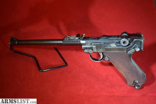 ARMSLIST - For Sale: 1917 German Artillery Luger