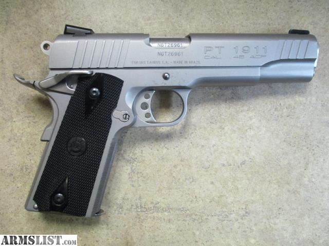ARMSLIST - For Sale: Taurus PT-1911 Stainless 45 ACP SA/DA