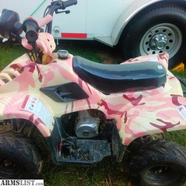 ARMSLIST - For Trade: 110CC Pink Camo ATV