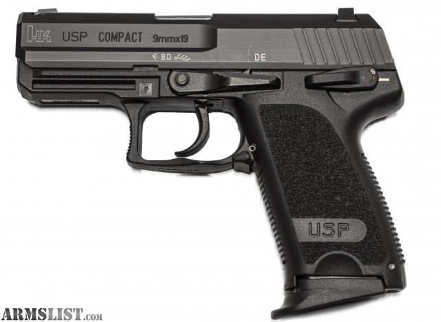 ARMSLIST - For Sale: HK USP COMPACT 9mm