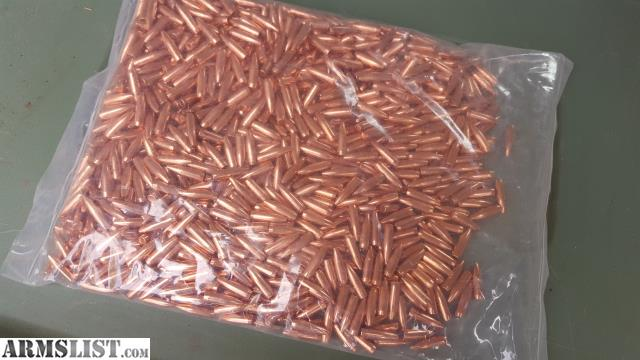 ARMSLIST - For Sale:  22 cal Solid Copper Bullets 55gr ($60/k)
