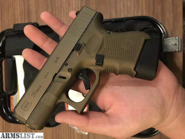 Armslist For Sale Burnt Bronze Gen 4 Glock 26 With Holster And