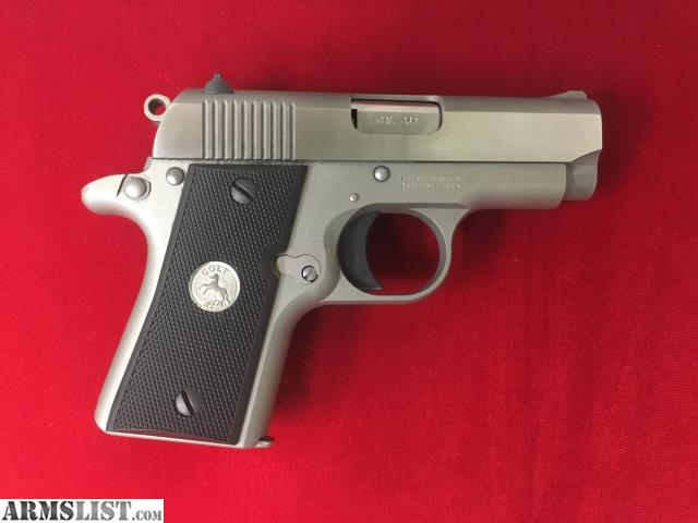 Armslist for sale colt mustang pocketlite w 1 mag inv for Golden nugget pawn jewelry holiday fl