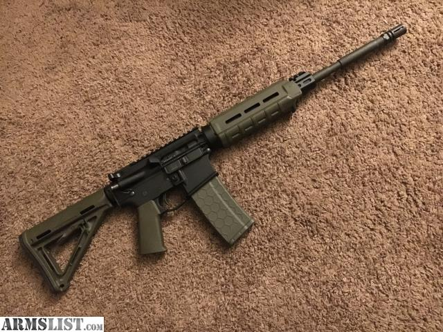 Charmant OD Green AR15 W/ Magpul MOE Furniture, OD Green 30 Round Hexmag Included    Lower Is Anderson, Upper Is From Moriarti Armaments. 60 Rounds Through It  Exactly ...