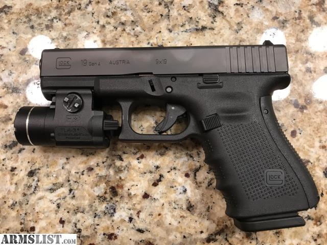 ARMSLIST - For Sale: Glock 19 Gen 4 w/ Streamlight TLR3 ...