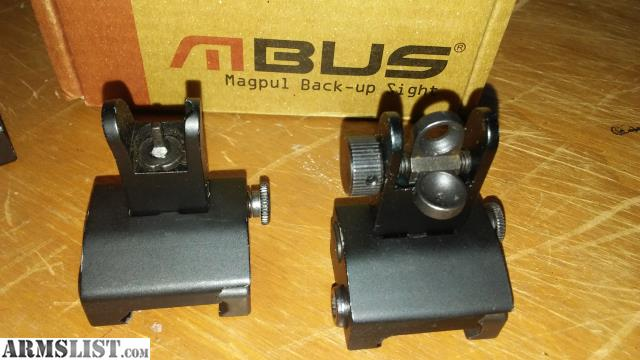 ARMSLIST - For Sale: 3 sets of back up sights Matech Magpul