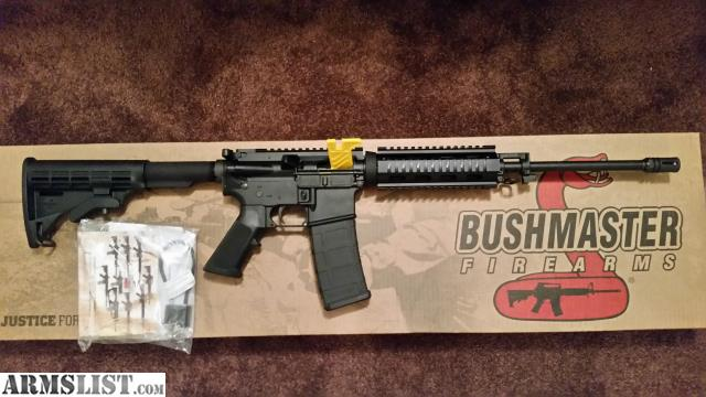 For Sale: Bushmaster 5.56/.223 AR15 NEW! W/AMMO