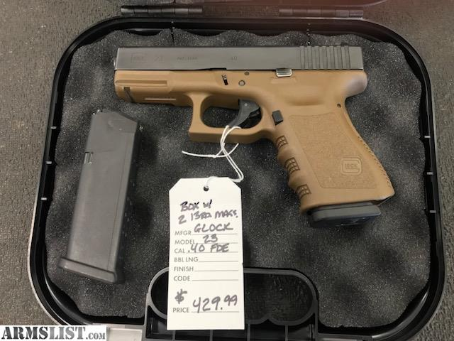 Armslist For Sale Glock 23 Fde