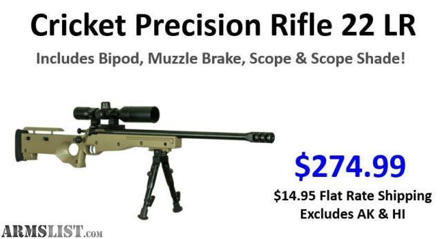 ARMSLIST - For Sale: Cricket Precision Rifle (Single Shot 22LR