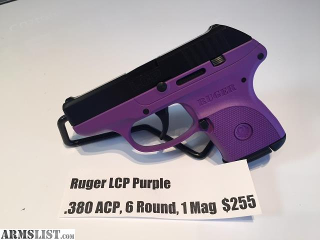 ARMSLIST - For Sale: NEW Ruger LCP  380 ACP Pistol Purple, 1