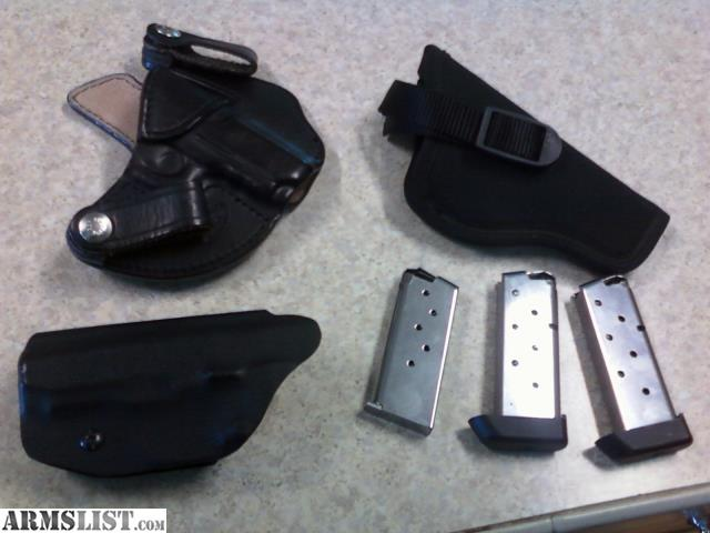 ARMSLIST - For Sale/Trade: Kimber mico 9 holsters/mags