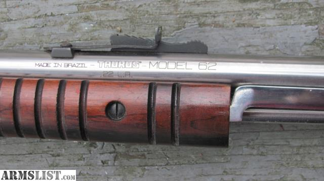 ARMSLIST - For Sale: Taurus Model 62 Rare Pump Gallery Stainless